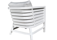 Delano Deep Seat Chair White Finish Back View
