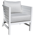 Delano Deep Seat Chair White Finish Side View