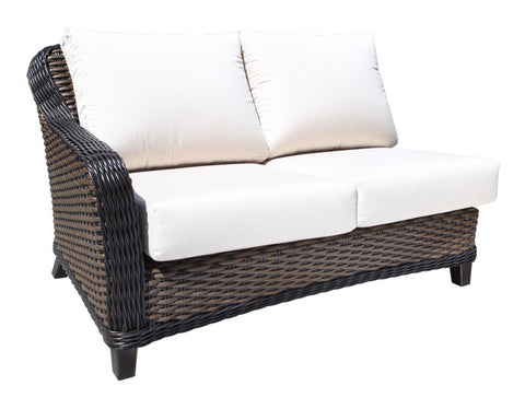 Elora Deep Seat Sectional By Cabana Coast - Left Module - Espresso Light