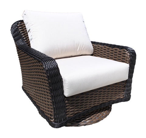 Elora Deep Seat Swivel Glider By Cabana Coast - Espresso Light