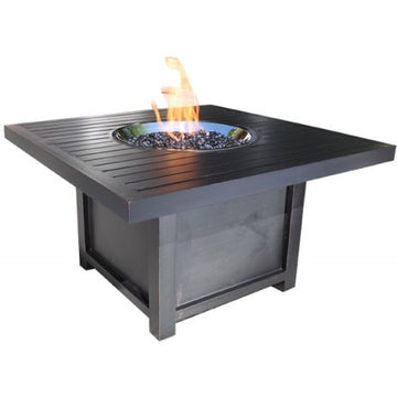 "42"" Square Monaco Outdoor Firepit by Cabana Coast - Dark Rum"
