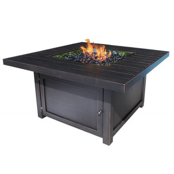 "49"" Square Monaco Outdoor Firepit by Cabana Coast - Dark Rum"