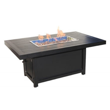 "58"" X 38"" Rectangular Monaco Outdoor Firepit by Cabana Coast - Dark Rum"