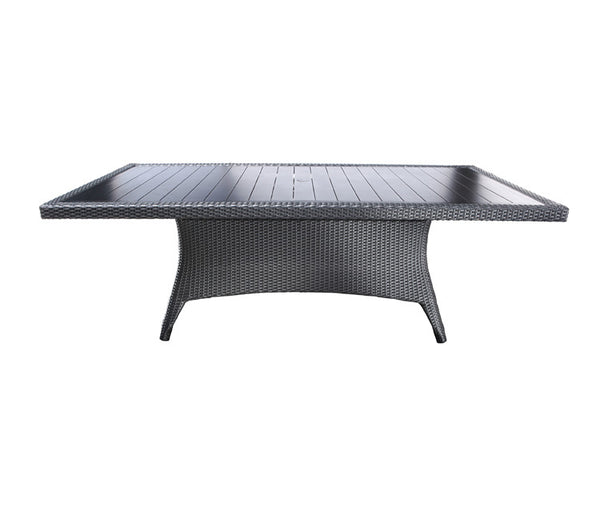 "Flight Dining by Cabana Coast - 112"" Rectangular Dining Table - Dark Rum on Coffee"