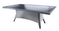 "Flight Dining by Cabana Coast - 84"" Rectangular Dining Table - Dark Rum on Saddle Frame"