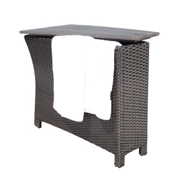 Flight Deep Seat Storage Wedge Table by Cabana Coast