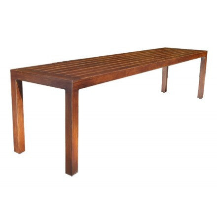 Monaco Dining 5' Bench by Cabana Coast - Dark Rum
