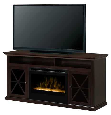 Dimplex Newman Media Console Electric Fireplace With Glass | Patio Palace