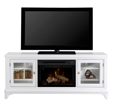 Dimplex Winterstein Media Console Electric Fireplace With Log Set | Patio Palace