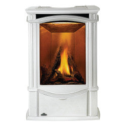Napoleon Gas Stove Fireplace - GDS26 Porcelain Enamel Winter Frost Finish