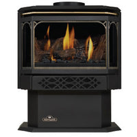 Napoleon Direct Vent Gas Fireplace Stove - GDS28 Haliburton - 24 Karat Gold Plated Finish