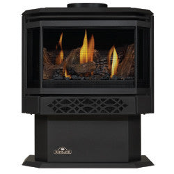 Napoleon Direct Vent Gas Fireplace Stove - GDS28 Haliburton - Painted Metallic Black Finish