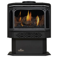Napoleon Direct Vent Gas Fireplace Stove - GDS28 Haliburton - Satin Chrome Plated Finish