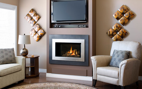 Valor Direct Vent H4 Series Gas Fireplace - Log Set