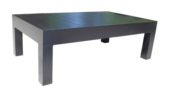 "Lakeview Coffee Table by Cabana Coast - 47x28"" Rectangular Table - Dark Rum"