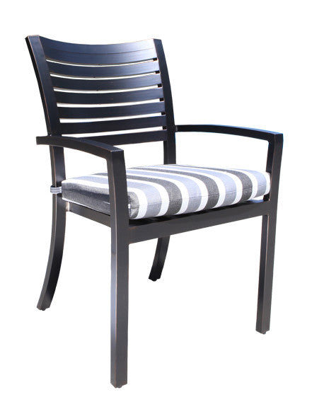 Lakeview Dining Armchair by Cabana Coast - Dark Rum