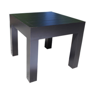 "Lakeview Side Table by Cabana Coast - 23"" Square Table - Dark Rum"