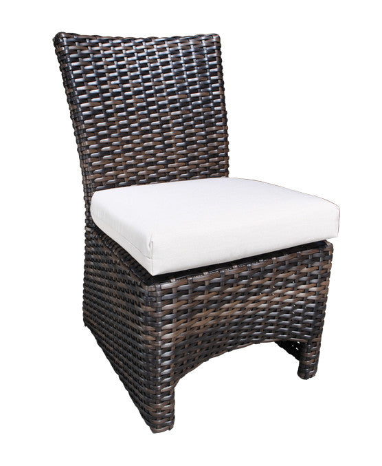 Louvre Accent Dining Chair by Cabana Coast - Espresso Flat