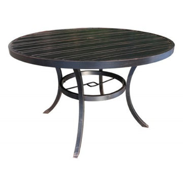 "Milano Dining Table by Cabana Coast - 54"" Round Table - Dark Rum"