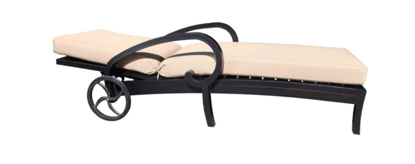 Milano Deep Seat Chaise Lounge Side View