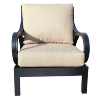 Milano Deep Seat Lounge Chair Front View