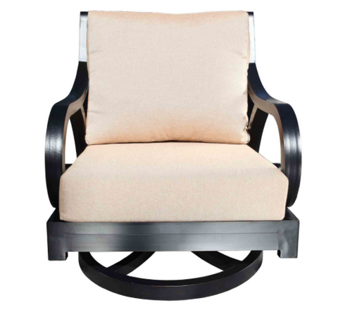 Milano Deep Seat Swivel Rocker Chair Front View