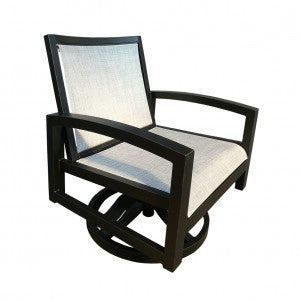 Millcroft Deep Seat Swivel Rocker by Cabana Coast -  Dark Rum