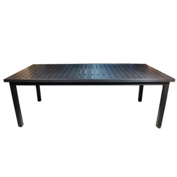 "Monaco Dining by Cabana Coast - 114"" Rectangular Table - Dark Rum"