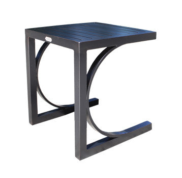 "Monaco Accent Table by Cabana Coast - 20"" Side Table - Silver"