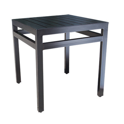 "Monaco Accent Table by Cabana Coast - 21"" Square Side Table - Dark Rum"