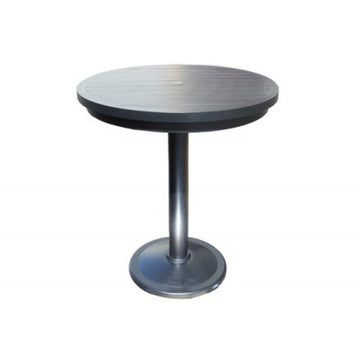 "Monaco Bar Table by Cabana Coast - 24"" Round Pedestal Table - Dark Rum"