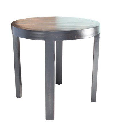 "Monaco Accent Table by Cabana Coast - 23"" Round Side Table - Dark Rum"
