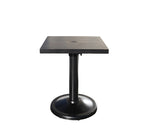 "Monaco Dining by Cabana Coast - 24"" Square Pedestal Table - Dark Rum"