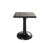 "Monaco Counter Height Table by Cabana Coast - 24"" Square Pedestal Table - Dark Rum"