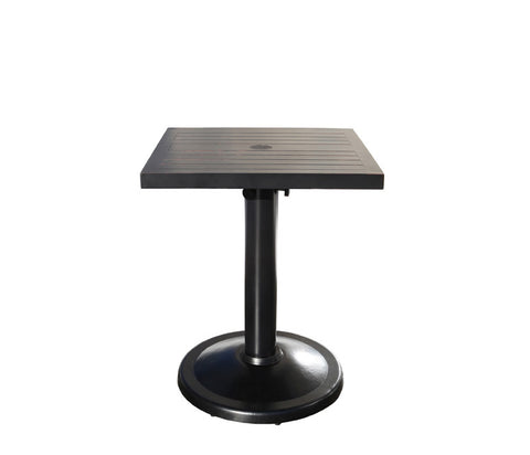 "Monaco Dining by Cabana Coast - 24"" Square Pedestal Table - Dove"