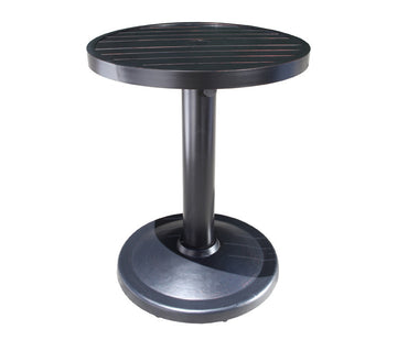 "Monaco Counter Height Table by Cabana Coast - 24"" Round Pedestal Table - Dark Rum"