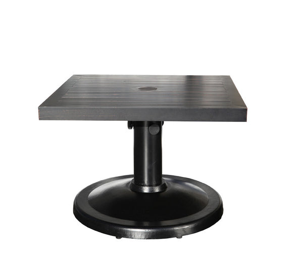 "Monaco Accent Table by Cabana Coast - 24"" Square Coffee Table - Dark Rum"