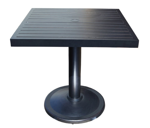 "Monaco Counter Height Table by Cabana Coast - 32"" Square Pedestal Table - Dark Rum"