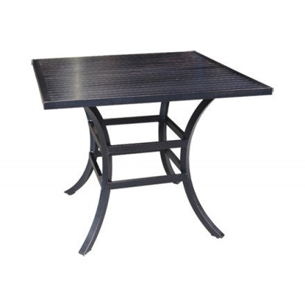 "Cabana Coast Monaco 32"" Square Dining Table - Silver"