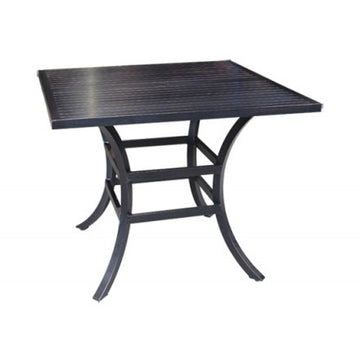 "Monaco Dining by Cabana Coast - 32"" Square Table - Dark Rum"