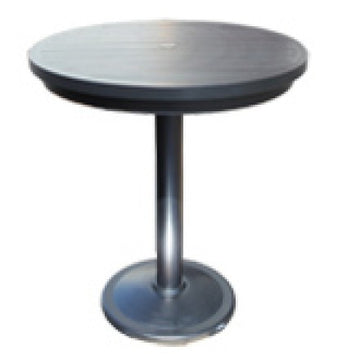 "Monaco Bar Table by Cabana Coast - 36"" Round Pedestal Table - Dark Rum"