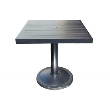 "Monaco Bar Table by Cabana Coast - 36"" Square Pedestal Table - Dark Rum"