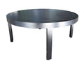 "Monaco Accent Table by Cabana Coast - 39"" Round Coffee Table - Dark Rum"