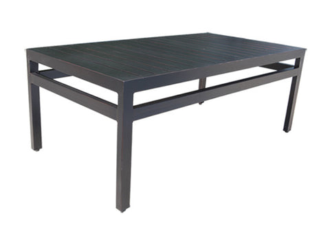 "Monaco Accent Table by Cabana Coast - 44"" Rectangular Coffee Table - Dark Rum"