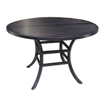 "Monaco Dining by Cabana Coast - 48"" Round Table - Dark Rum"