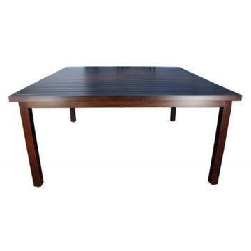 "Monaco Dining by Cabana Coast - 60"" Square Table - Dark Rum"
