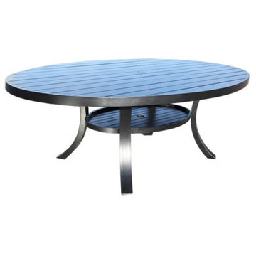 "Monaco Dining by Cabana Coast - 98"" Egg Shape Table - Dark Rum"