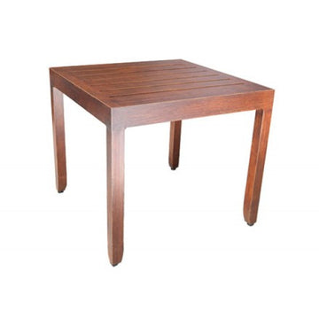 "Monaco Accent Table by Cabana Coast - 19"" Square Side Table - Dark Rum"