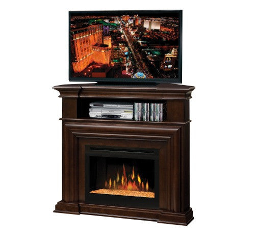 Dimplex Montgomery Media Corner Console Espresso Electric Fireplace With Glass | Patio Palace