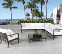 Sol Teak and Aluminium Outdoor furniture Grouping in Patina
